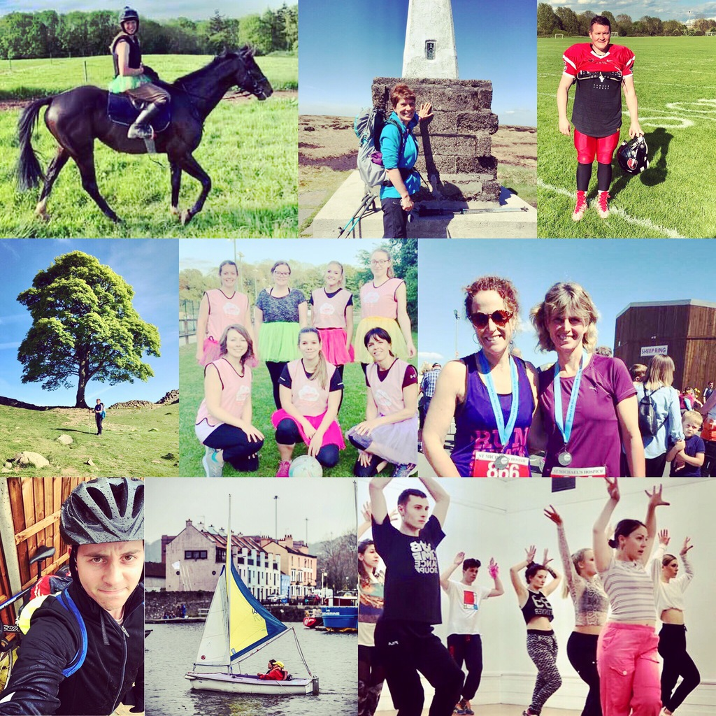 Celebrating the different activities our fundraisers got up to during May 100 from horse riding to hiking, running and dancing!