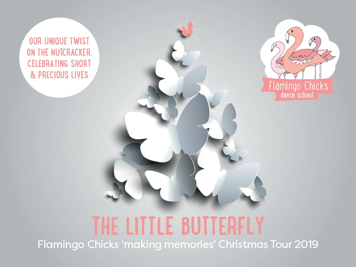 The flyer for Flamingo Chicks' 2019 Little Butterfly Tour