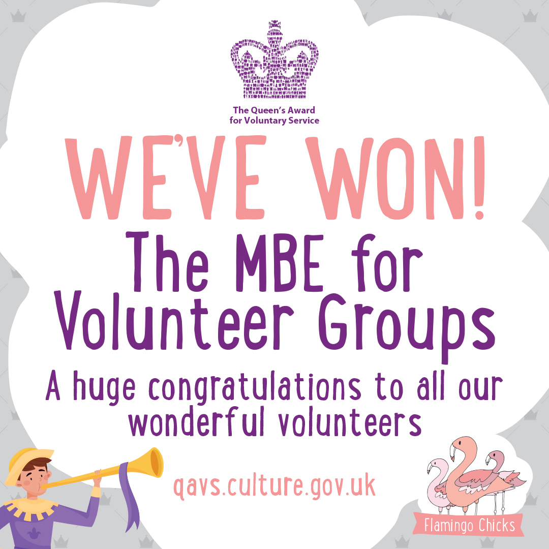 Flamingo Chicks win the Queen's Award for Volunteer Services