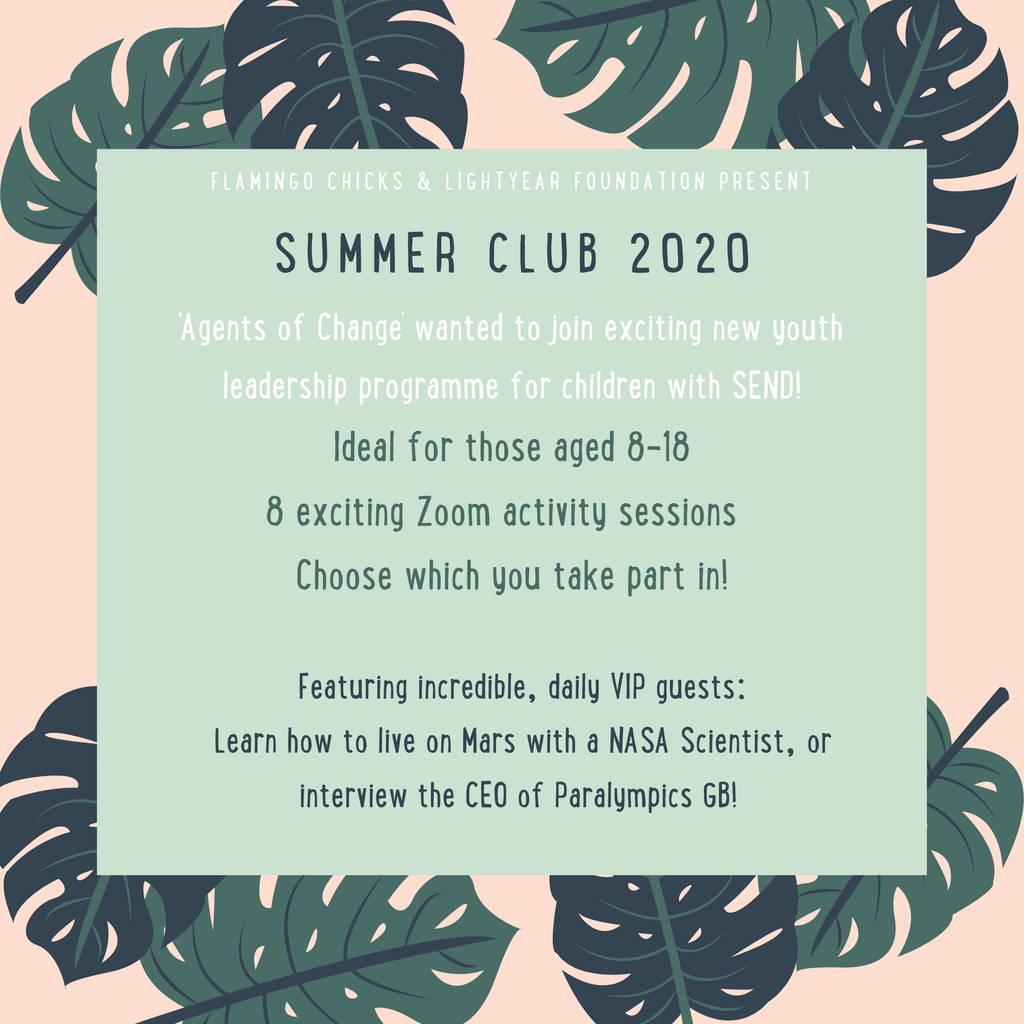 Summer Club 2020 Flyer