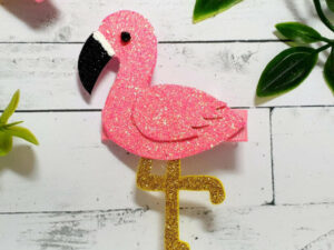 Glittery flamingo hairclip