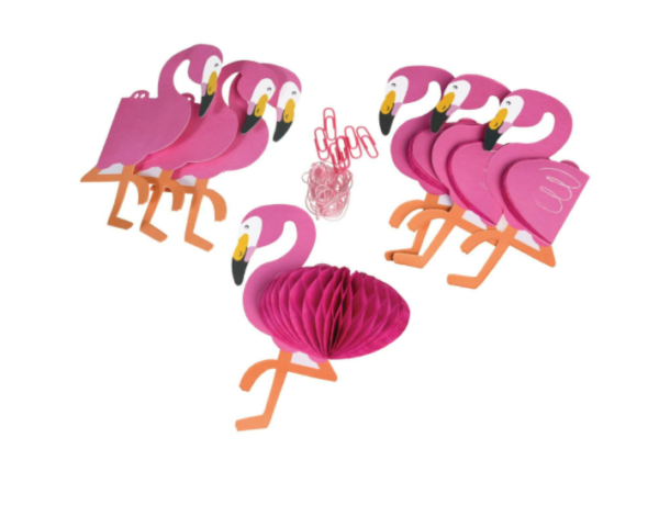 paper flamingo party garland