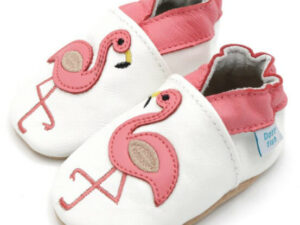 Dotty fish flamingo booties