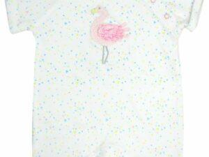 Flamingo crochet baby vest