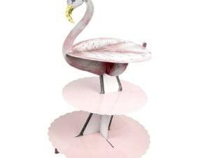 cardboard flamingo cake stand