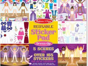 Melissa and Doug reusable sticker pad dress up theme