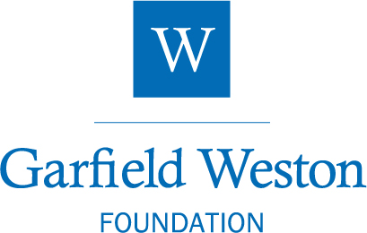 Garfield Weston Foundation logo - blue test on a white background. A 'W' is in white inside a blue box.